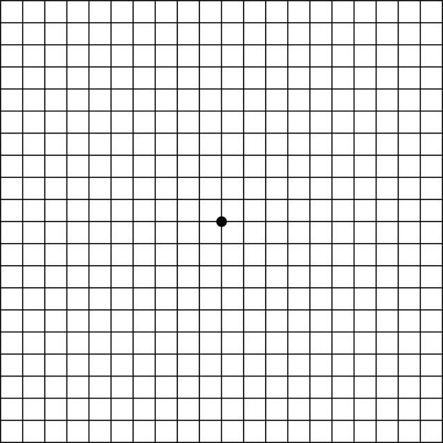 teste de visão - tela de Amsler